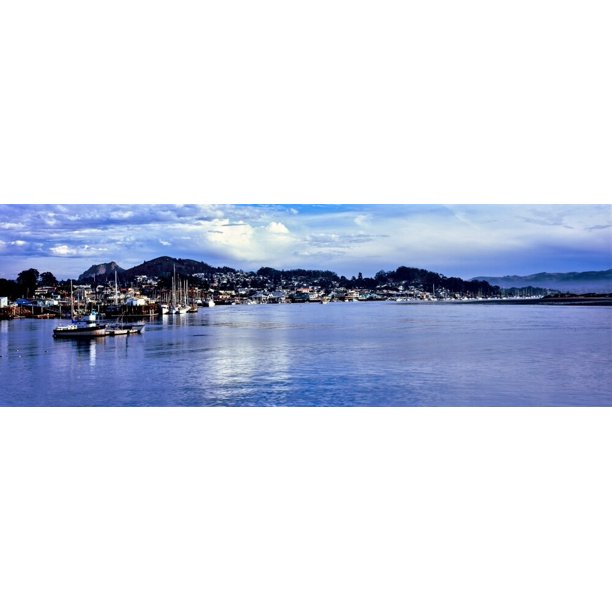 View Of City At Waterfront Morro Bay San Luis Obispo County California Usa Poster Print Walmart Com Walmart Com