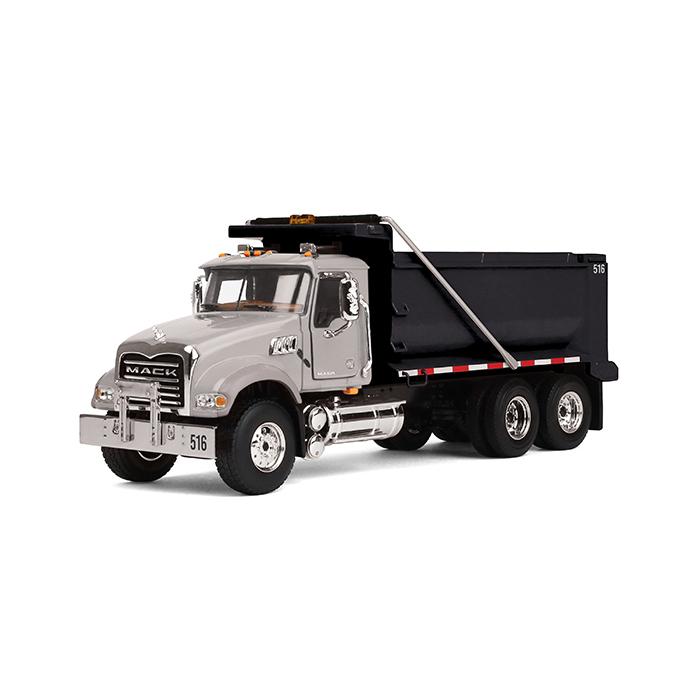 Firstgear Mack Granite Dump Truck Silver and Black 1/50 D...