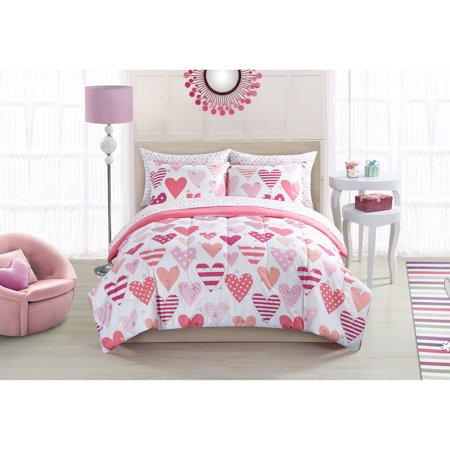mainstays kids sweet hearts bed in a bag. Black Bedroom Furniture Sets. Home Design Ideas