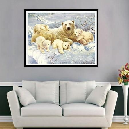 Polar bear 6447 Square Art Painting DIY Handmade Diamond Painting Cross Stitch - image 3 of 9