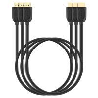 4K HDMI Cable 6FT-3 PACK, Fosmon Gold Plated[Ultra HD 3D, Support Ethernet|Audio Return] Male to Male HDMI Cable Cord