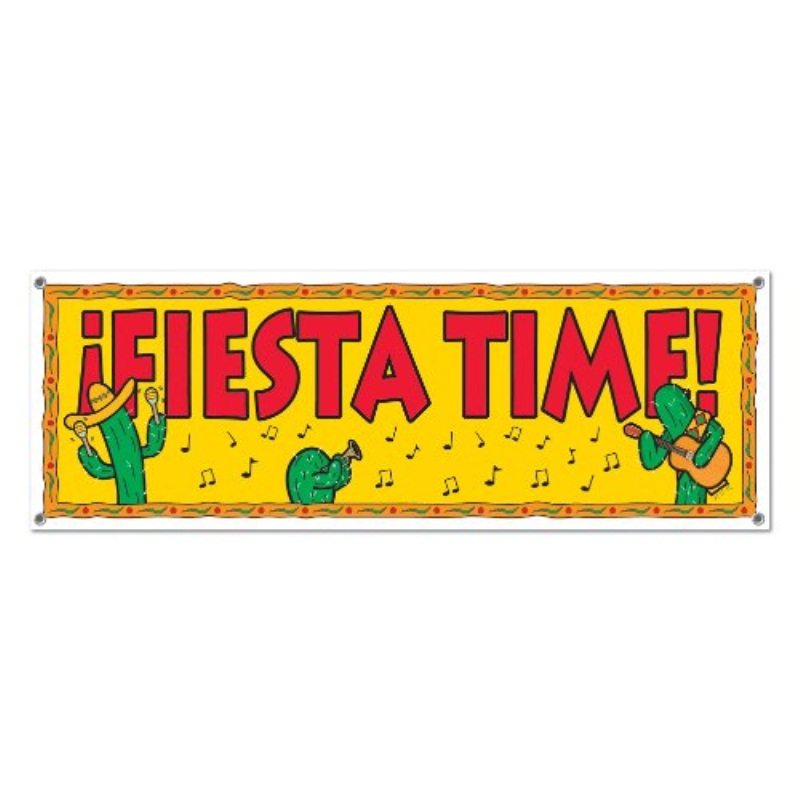 Fiesta Sign Banner Party Accessory (1 count) (1/Pkg)