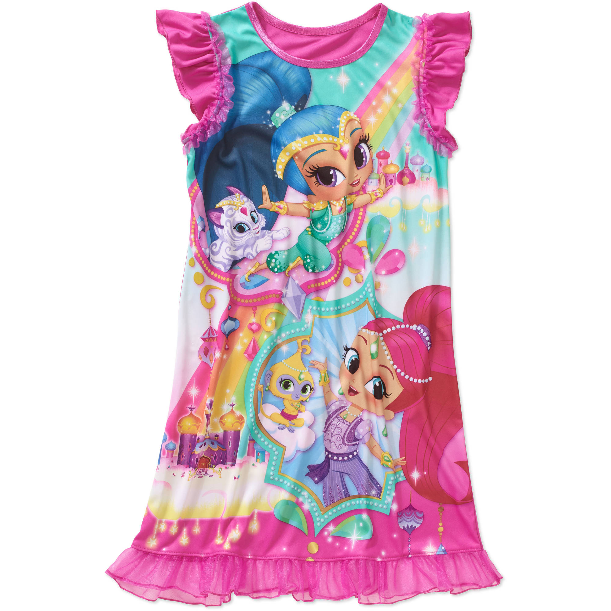 Nickelodeon Girls' Ruffle Sleeve Sleep Gown