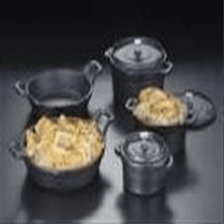 Cast Iron Casserole - American Metalcraft CIPR6250 Cast Iron Round Casseroles and Pots, 8.75