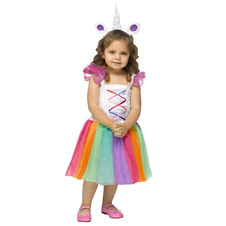 Rainbow Sparkly Unicorn Fairytale Tutu Toddler Hallowen Costume