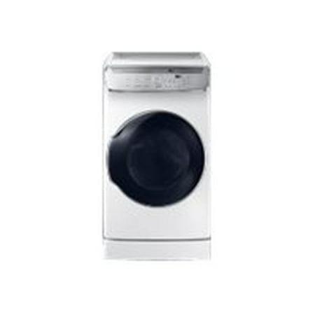 Samsung FlexDry DVE60M9900W - Dryer - freestanding - Wi-Fi - front & top separate loading - white
