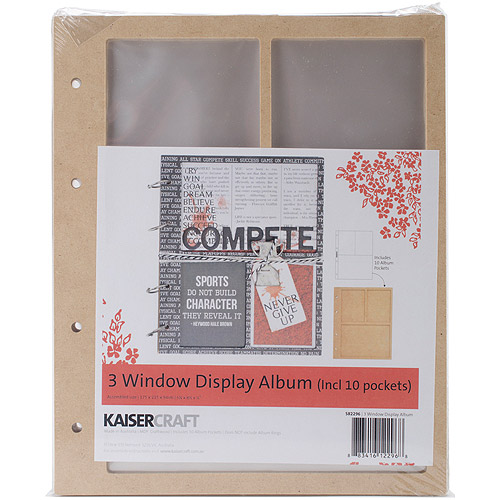 "Beyond The Page MDF 3 Window Display Album with 10 Pockets-6.75"" x 8.5"" x .5"""