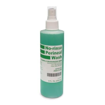 McKesson Rinse-Free Perineal Wash MSA Liquid 53-28133, 8 Ounce Single Bottle Herbal