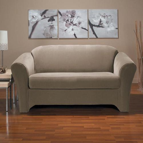 Eastwood 2-piece Stretch Loveseat Slipcover Black
