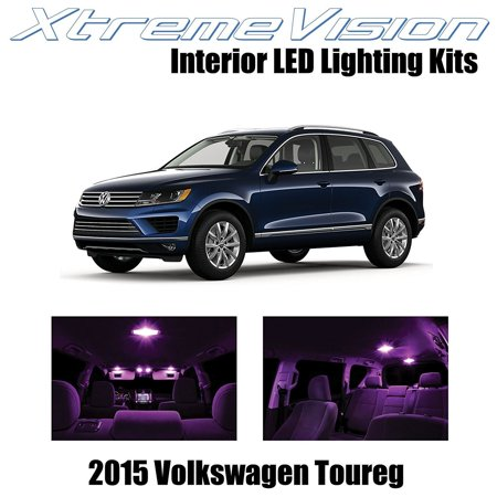 XtremeVision LED for Volkswagen Toureg 2015+ (5 Pieces) Pink Premium Interior LED Kit Package + Installation Tool Pink 5 Piece Setting