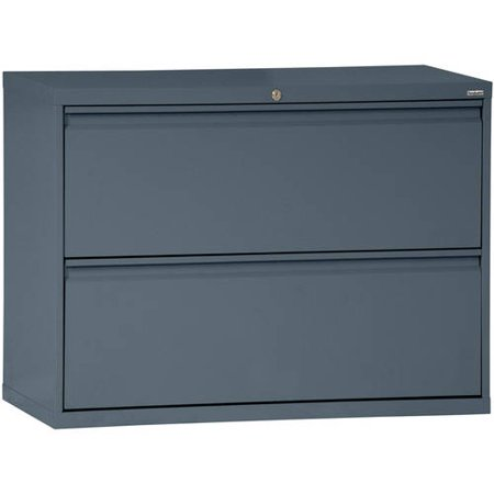 Sandusky Lee 800 Series 30″ 2-Drawer Full Pull Lateral File, Charcoal
