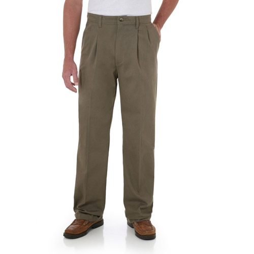Wrangler Men's Advanced Comfort Pleated Pants
