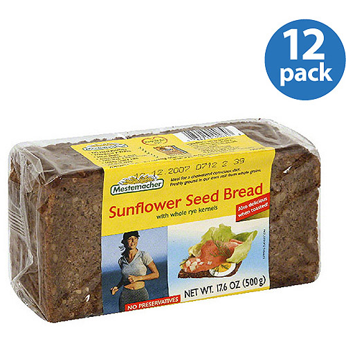 Mestemacher Sunflower Seed Bread, 17.6 oz (Pack of 12) by Mestemacher
