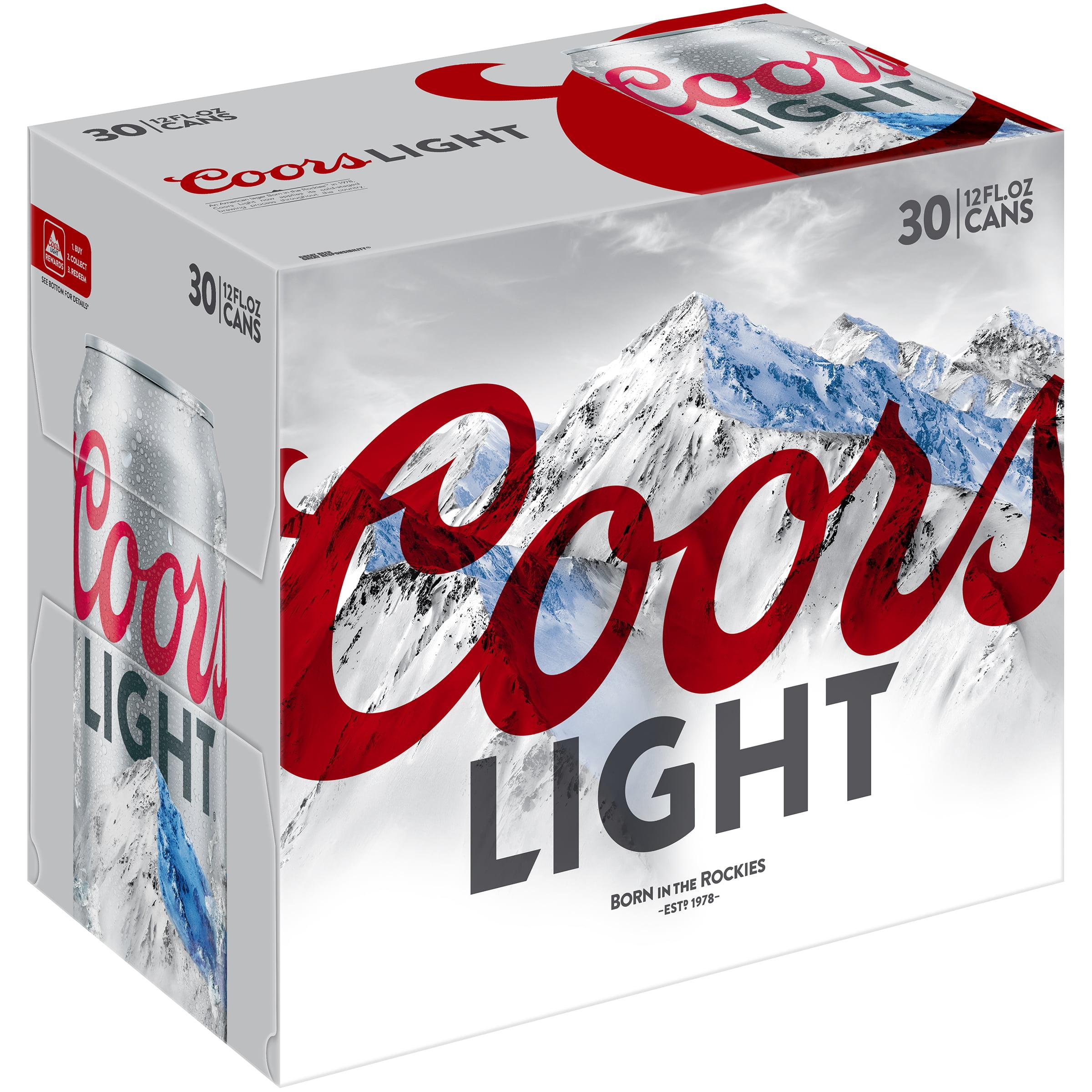 Coors Light Lager Beer, 30 Pack, 12 fl. oz. Cans, 4.2% ABV