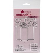 """Woodware Clear Stamps, 5.5"""" x 3.5"""" Sheet, Tulips In A Vase"""