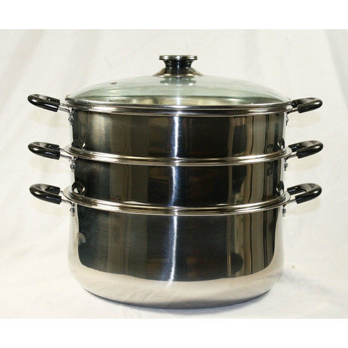 Concord Cookware 3 Tier Steamer Steam Pot