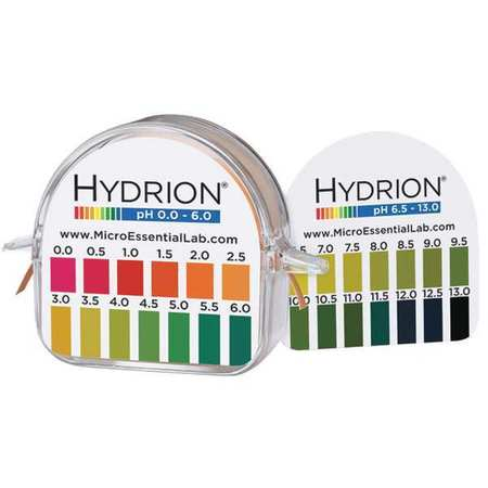 MICRO ESSENTIAL 3VDT4 Test Kit, Standard pH Paper, 0-13