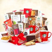 Starbucks Coffee Chocolate and Tea Holiday Gift Basket