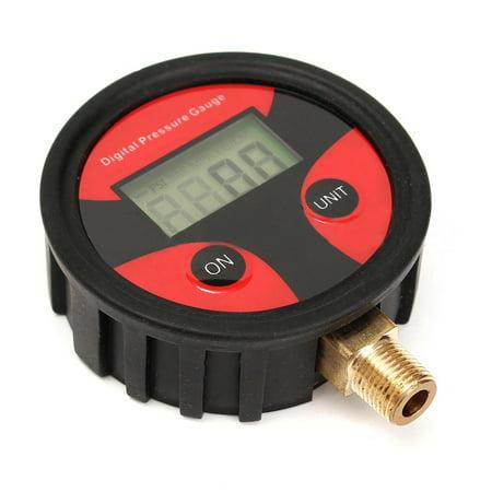 0-200PSI LCD Display Digital Tire Air Pressure Gauge Tester PSI BAR KPA KGF/cm²