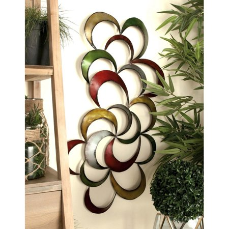 Decmode metal abstract wall decor multi color for Al ahram aluminium decoration