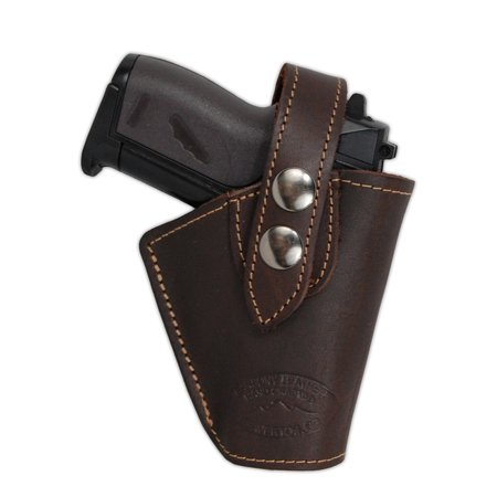 Barsony Right Brown Leather OWB Holster Size 11 AMT Beretta Taurus NA Arms Ruger S&W Kahr Raven Jennings Mini 22 25 32 380 (Kahr Cw45 Mag)