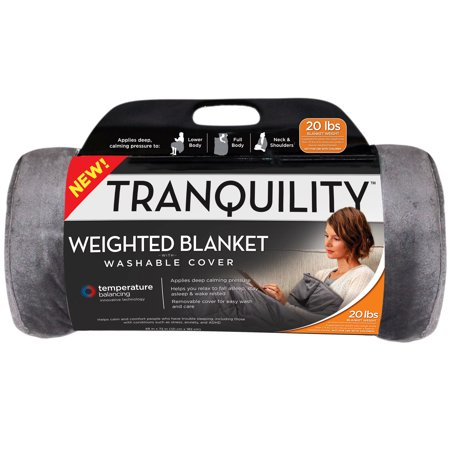 Tranquility Temperature Balancing Weighted Blanket with Washable Cover, 20 lbs Calvin Klein Standard Blanket