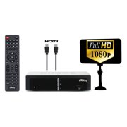 eXuby Digital Converter Box for TV w/ Antenna and HDMI Cable  for Recording and Viewing Full HD Digital Channels FREE (Instant or Scheduled Recording, 1080P HDTV, HDMI Output, 7 Day Program Guide)