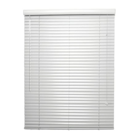 "1 Inch WHITE Aluminum Mini Blind - 26"" Wide by 38"" Long"