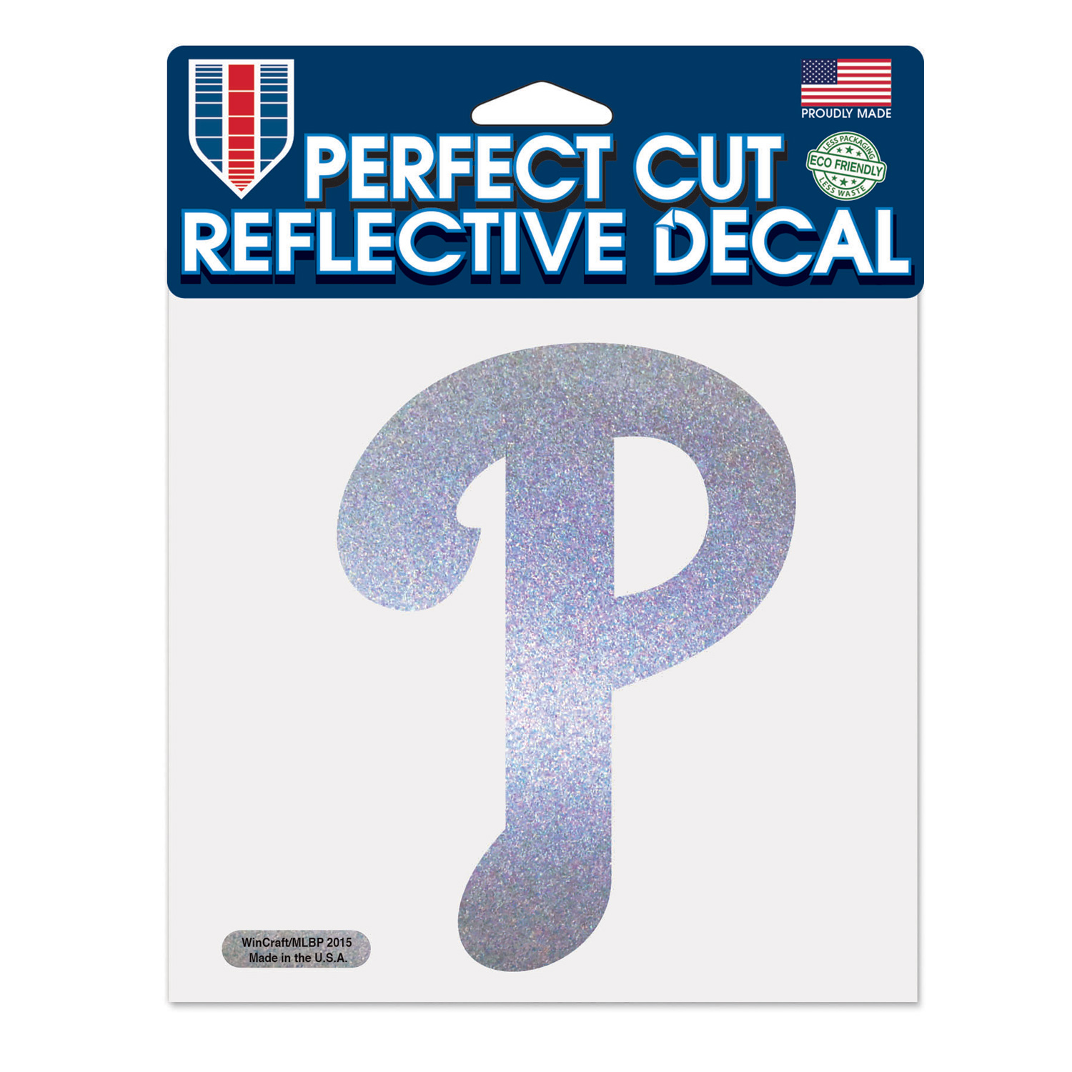 """Philadelphia Phillies WinCraft 6"""" x 6"""" Reflective Perfect Cut Decal - No Size"""