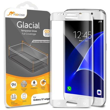 more photos 1c1e2 73831 Galaxy S7 Edge Screen Protector, roocase Full Screen Tempered Glass  Protector Cover [Full Screen Coverage Edge to Edge] for Samsung Galaxy S7  Edge,