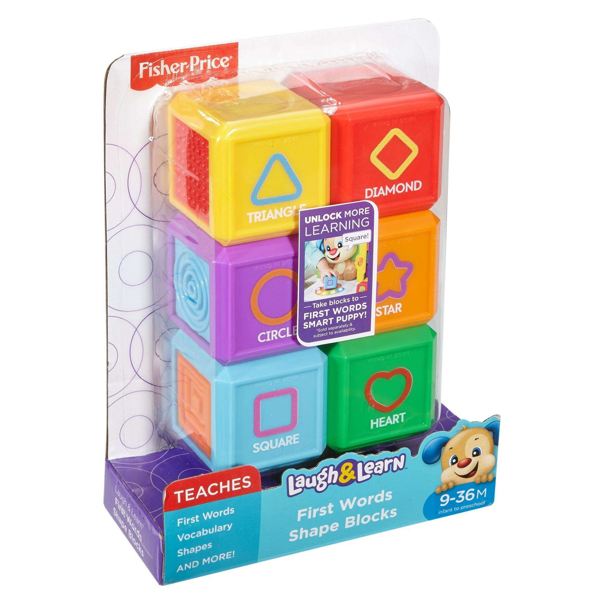 Fisher-Price Laugh /& Learn First Words Shape Blocks