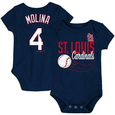 Yadier Molina St. Louis Cardinals Majestic Newborn & Infant Baby Slugger Name & Number Bodysuit -