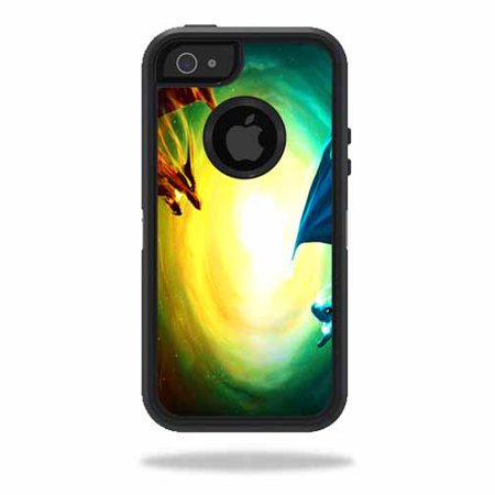 skin decal wrap for otterbox defender iphone 5 5s se case sticker dragon battle. Black Bedroom Furniture Sets. Home Design Ideas