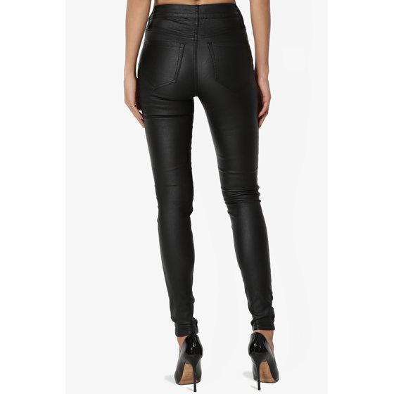 444d7bd53a988 TheMogan - TheMogan Women's Biker High Waisted Stretch Faux Leather ...