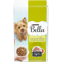 Purina Bella Natural Small Breed Dry Dog Food; Natural Bites With Real Turkey & Chicken - 3 lb. Bag