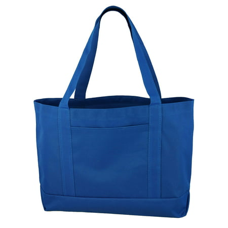 Daily Tote with Shoulder Length Handle and Outside Pocket Boston Tote Bag Purse