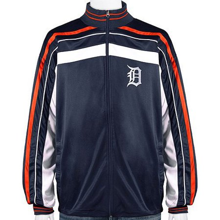 Men's Majestic Navy Detroit Tigers Big & Tall Warrior Full-Zip Jacket