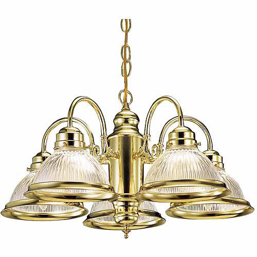 Design House 500546 Millbridge 5-Light Chandelier, Polished Brass Finish