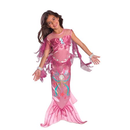 Girls Pink Mermaid Costume](Mermaid Halloween Costume Baby)