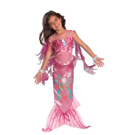 Girls Pink Mermaid Costume for $<!---->