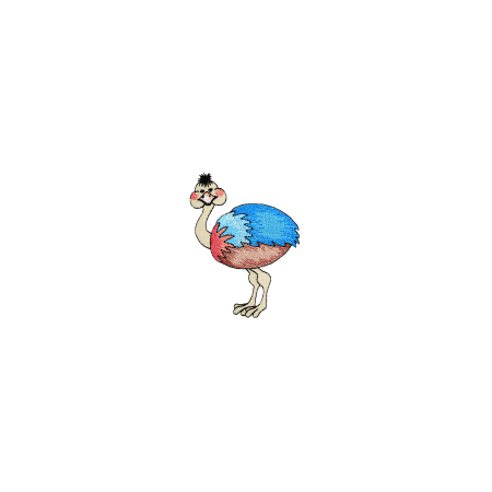 Expo Int'l BaZooples Iron-on Patch Applique Ollie Ostrich - Ollie The Ostrich
