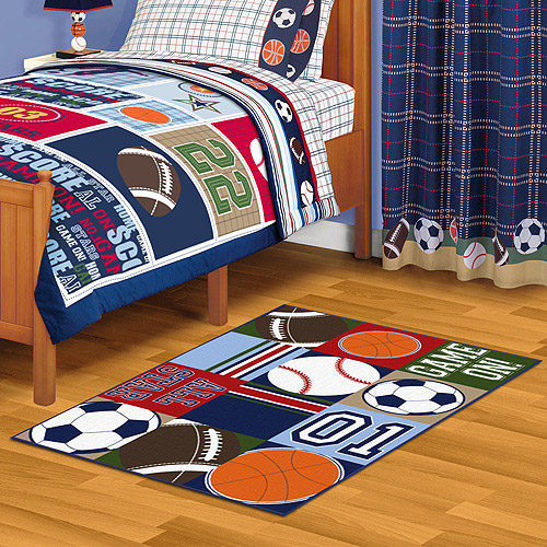 "Mainstays All Stars Nylon Rectangle Rug, 39"" x 40"""