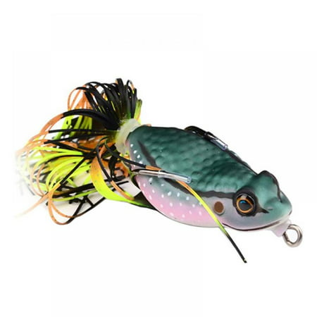 1 pcs Frog Lure Ray Frog Topwater Fishing Crankbait Lures/Artificial Soft Bait 6.35cm/3.18g Soft Tube Bait ,Especially for Bass Snakehead ,Freshwater Soft Bai Musky Tackle Box Spitted weedless bas thumbnail