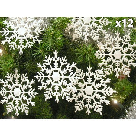 Set Of 12 Snowflake Christmas Ornaments Winter Wedding Favor