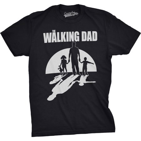 Crazy Dog TShirts - Mens The Walking Dad Funny T shirts for Dads Fathers Day Novelty Zombie T shirts