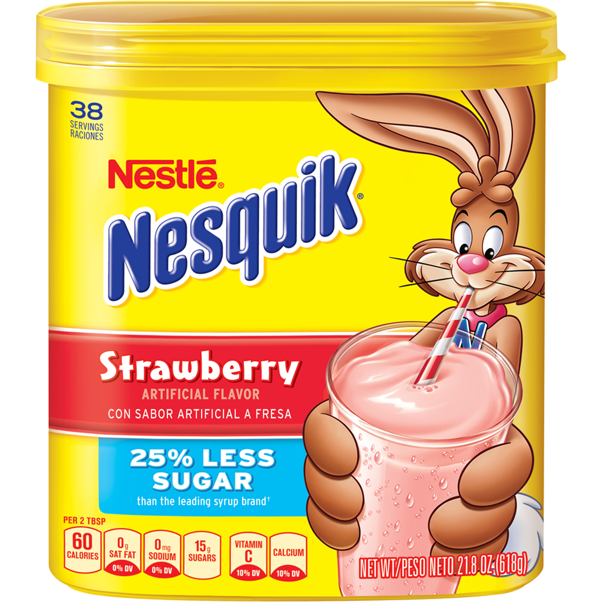 Nestle Nesquik Strawberry Flavored Powder, 21.8 oz