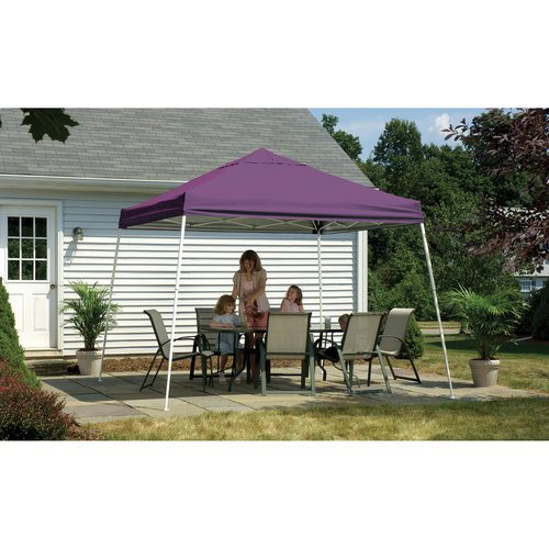 10' x 10' Sport Pop-up Canopy Slant Leg Purple Cover
