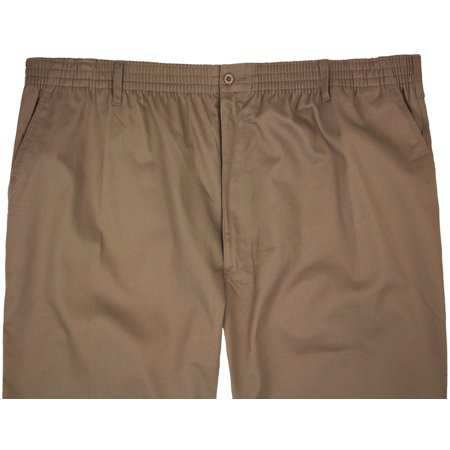198efeee812 Falcon Bay - Big   Tall Men s Full Elastic Casual Twill Pants by Falcon Bay  - Walmart.com