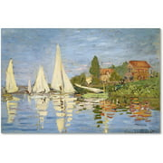 "Trademark Fine Art ""Regatta at Argenteuil"" Canvas Art by Claude Monet"