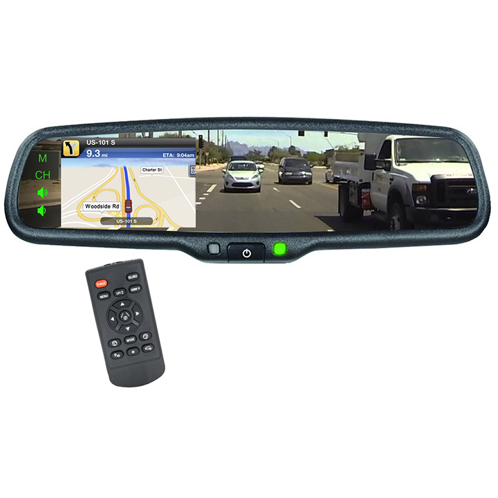 """BOYO VTM43M4 4.3"""" Rearview Mirror Monitor with 4 Video Inputs"""